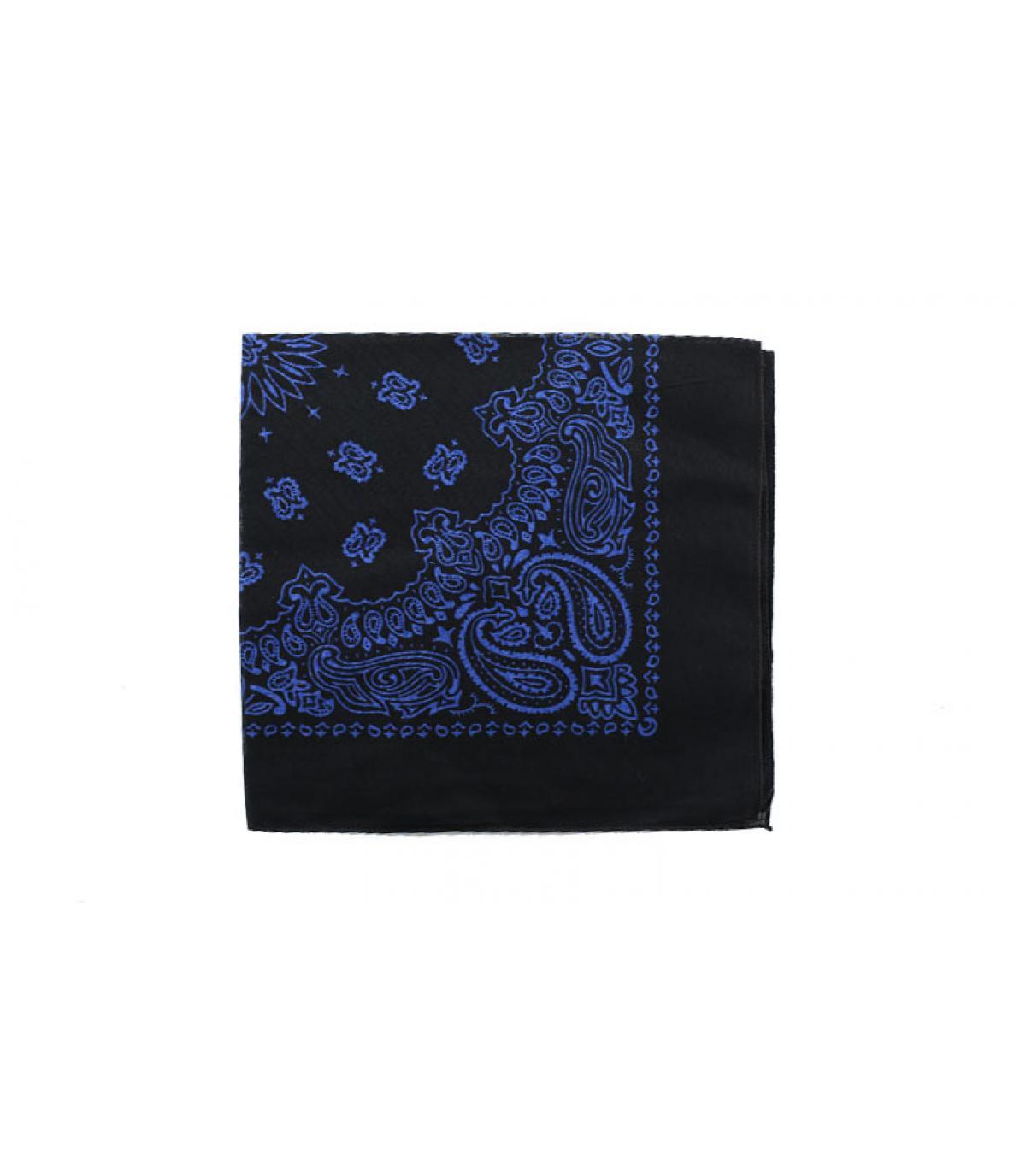 bandana noir bleu
