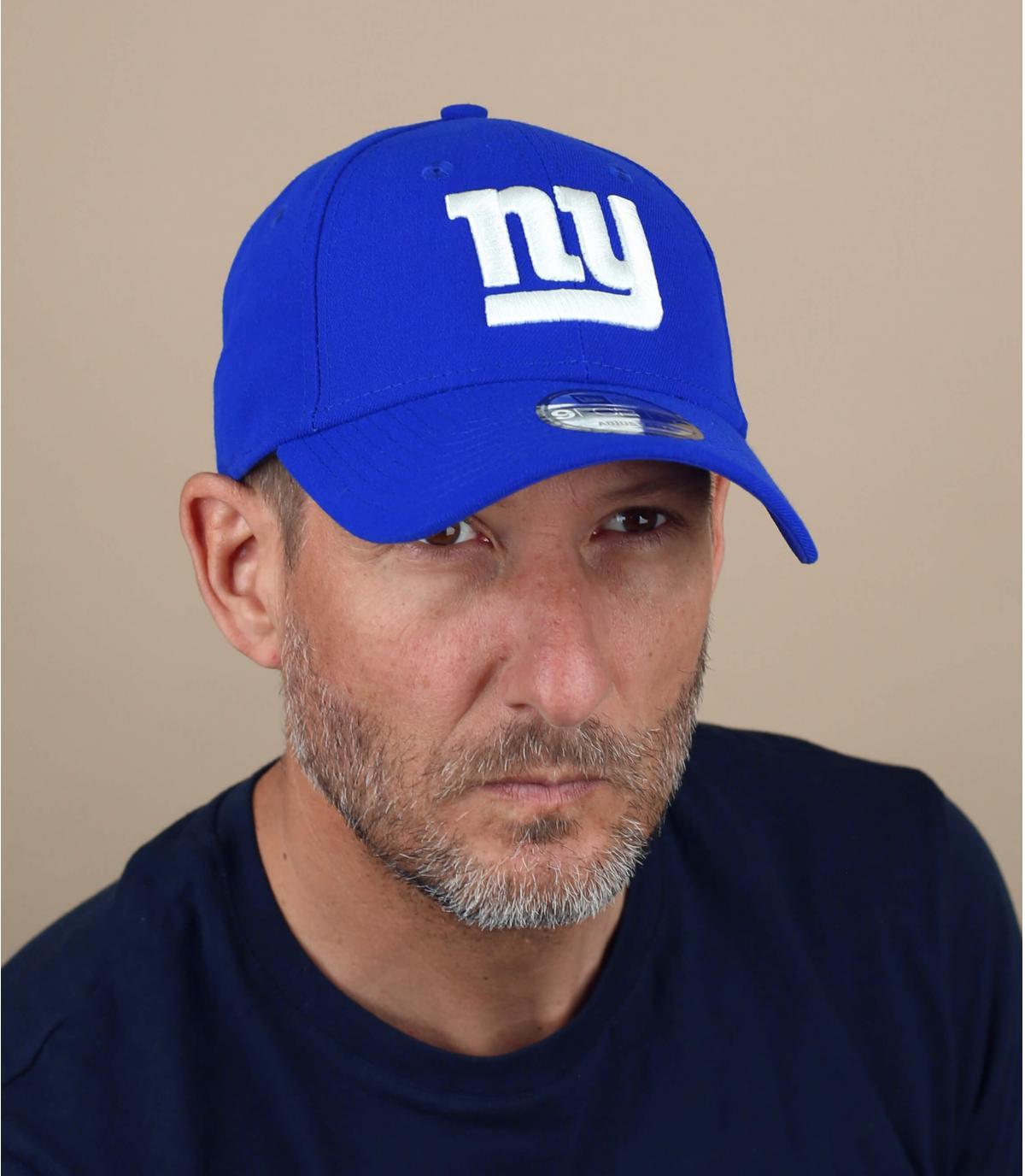 casquette curve New York Giants bleue