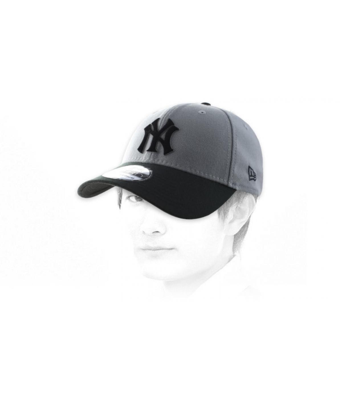casquette NY grise noire