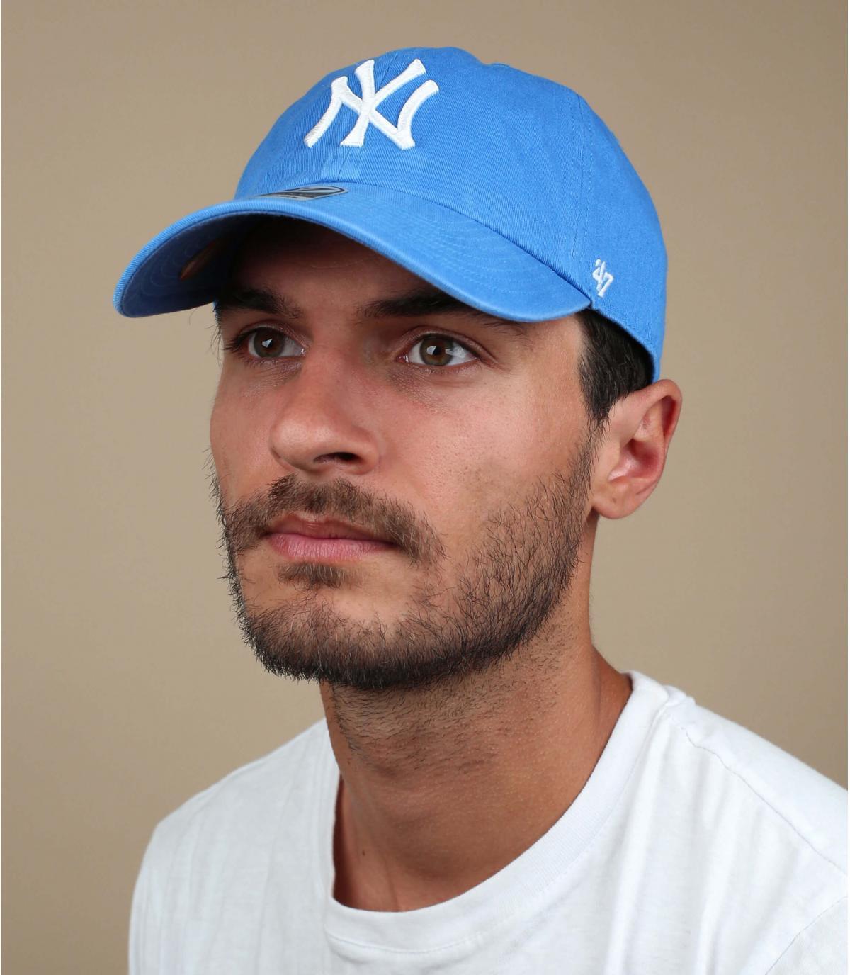 casquette NY bleu clair