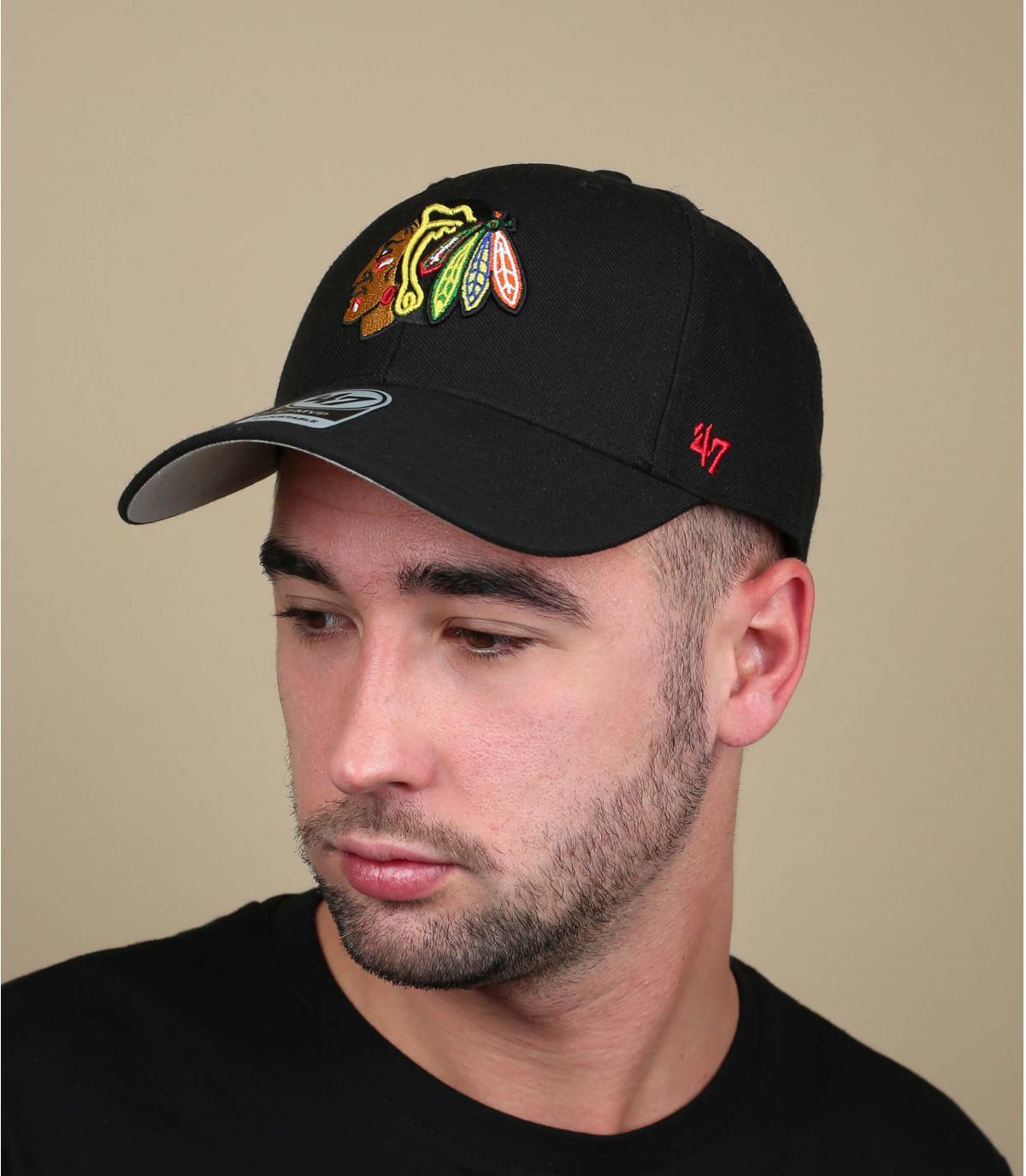 Casquette Blackhawks noire