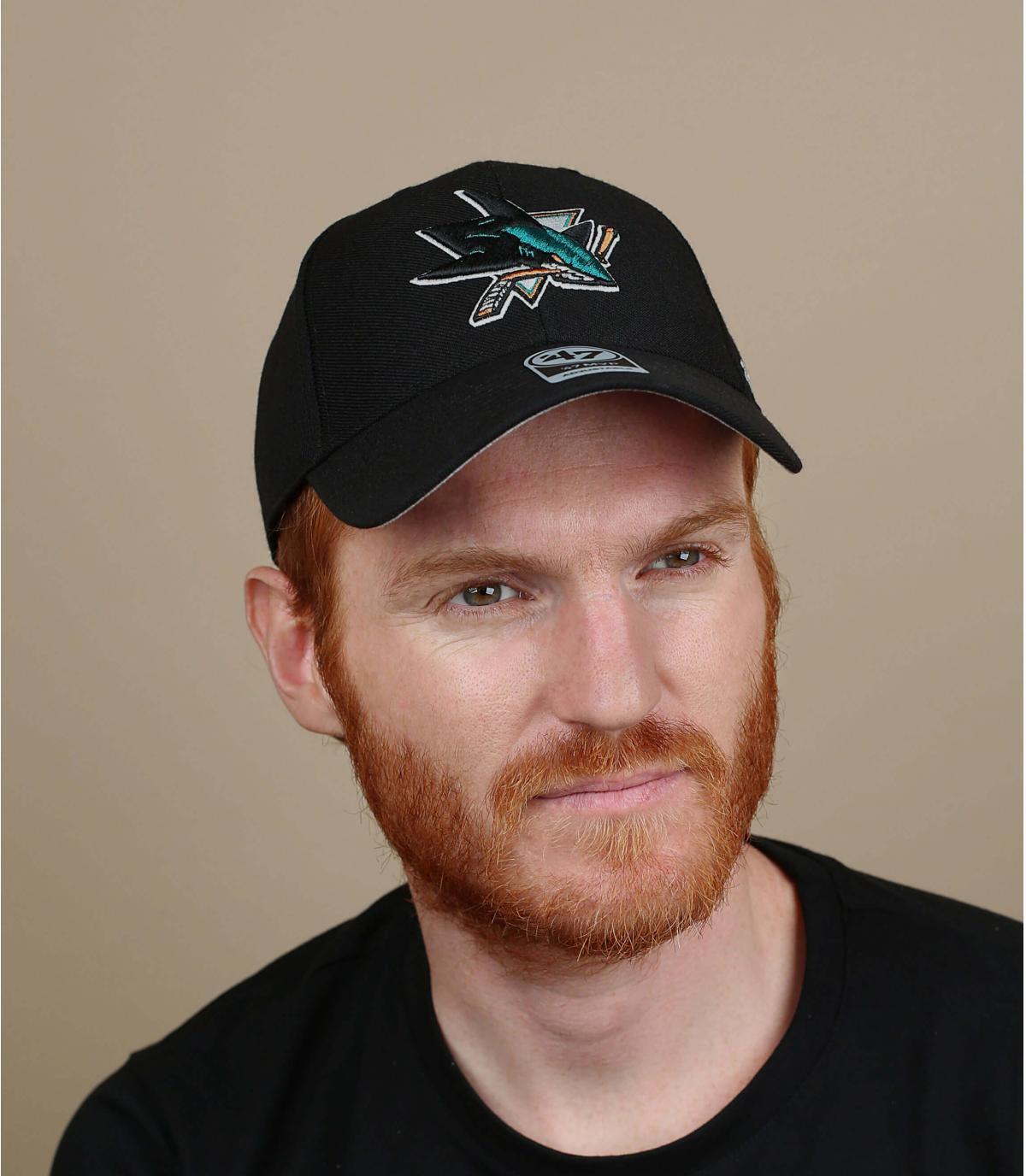 casquette San Jose Sharks noire
