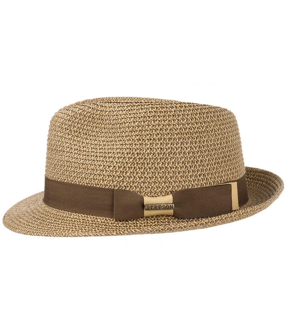Détails Trilby toyo braid brown beige - image 2