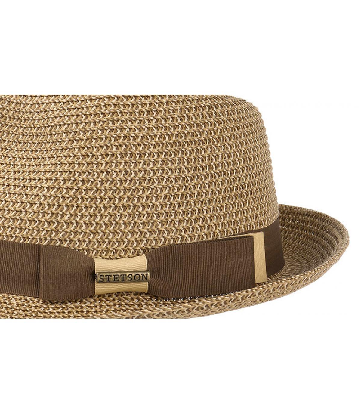 Détails Trilby toyo braid brown beige - image 3