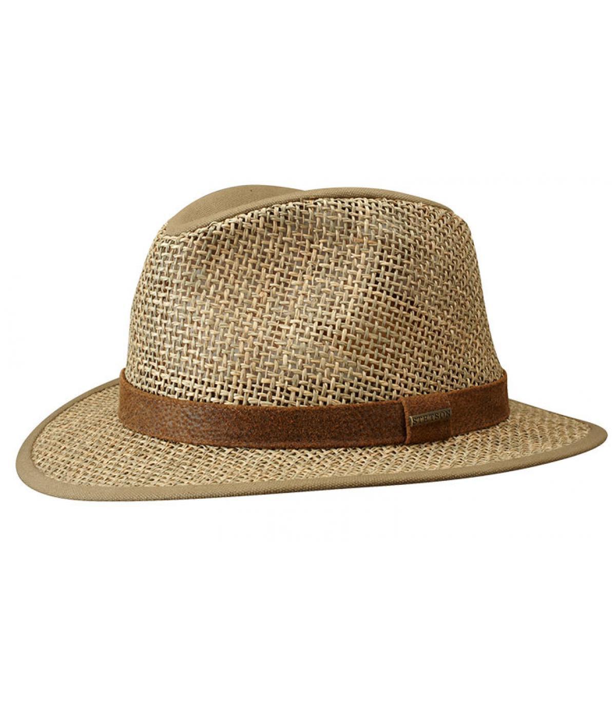 chapeau paille large bords Stetson