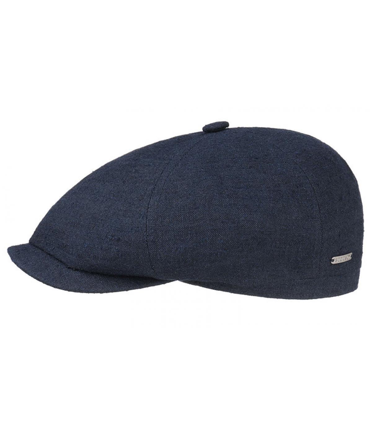 Détails Brooklyn cap lin soie navy - image 2