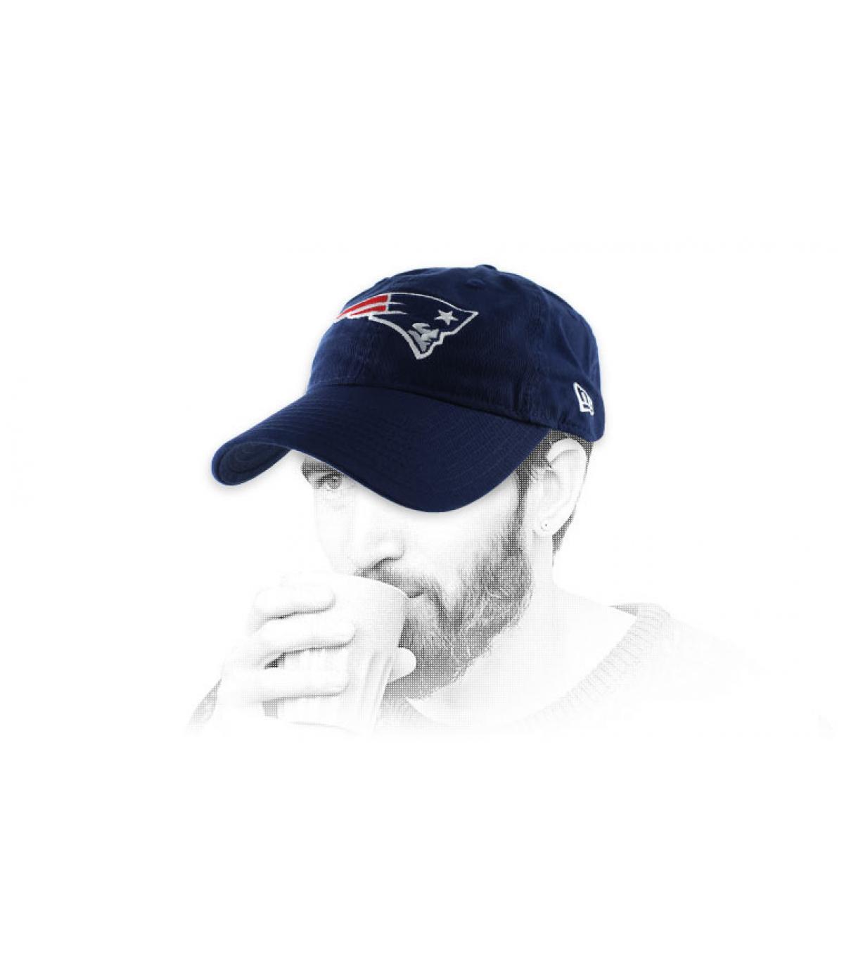 casquette curve Patriots bleue