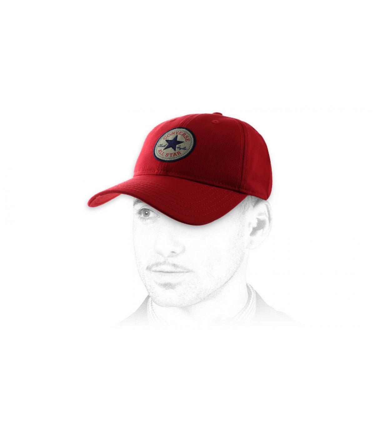 casquette curve Converse rouge