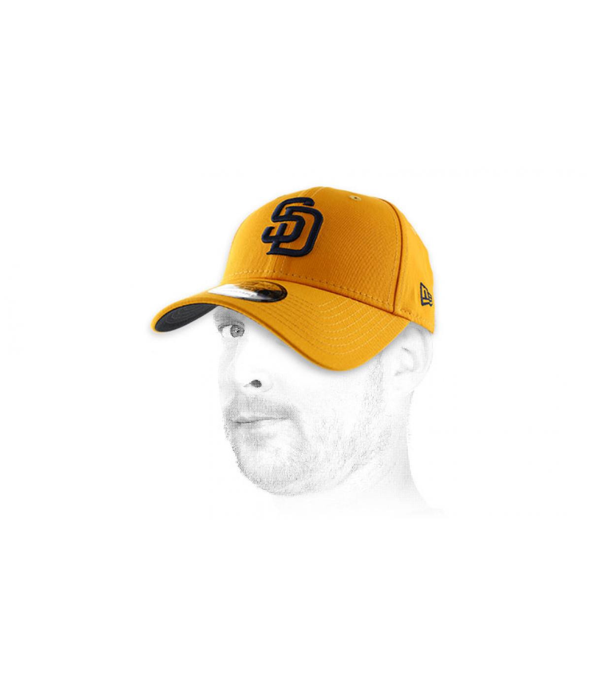 casquette curve jaune SD