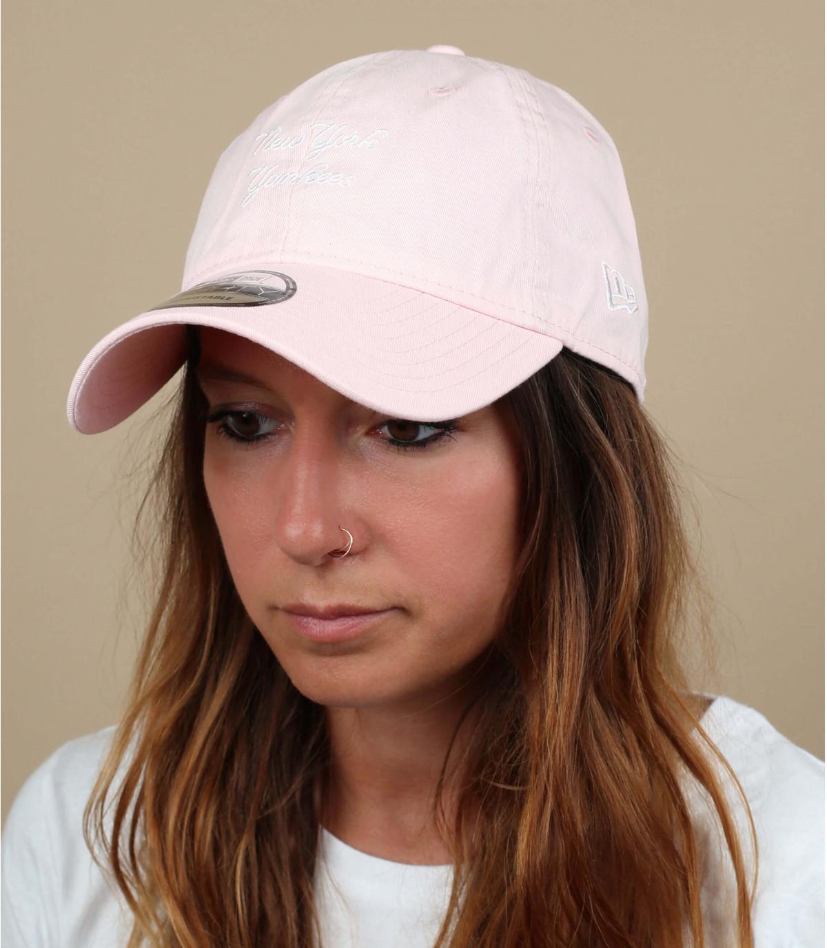 casquette Yankees rose pâle