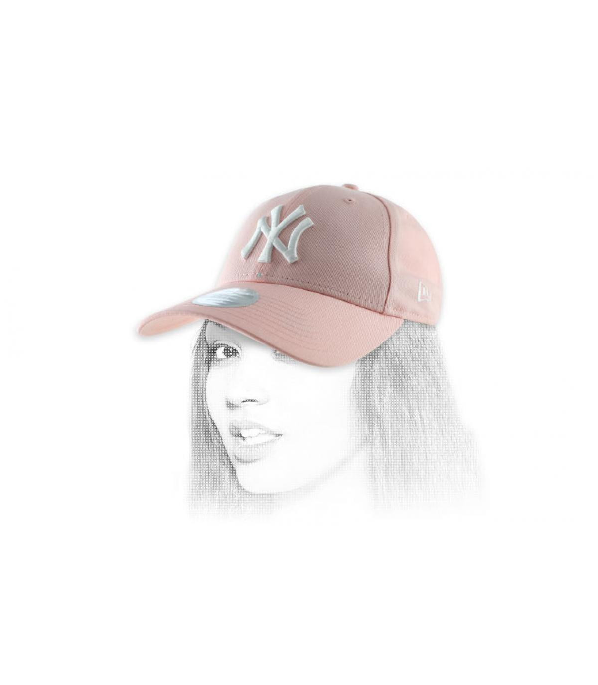 casquette femme NY rose