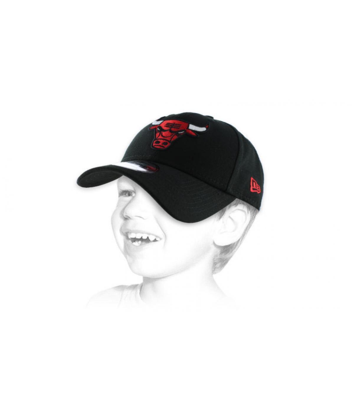 casquette enfant Bulls noire