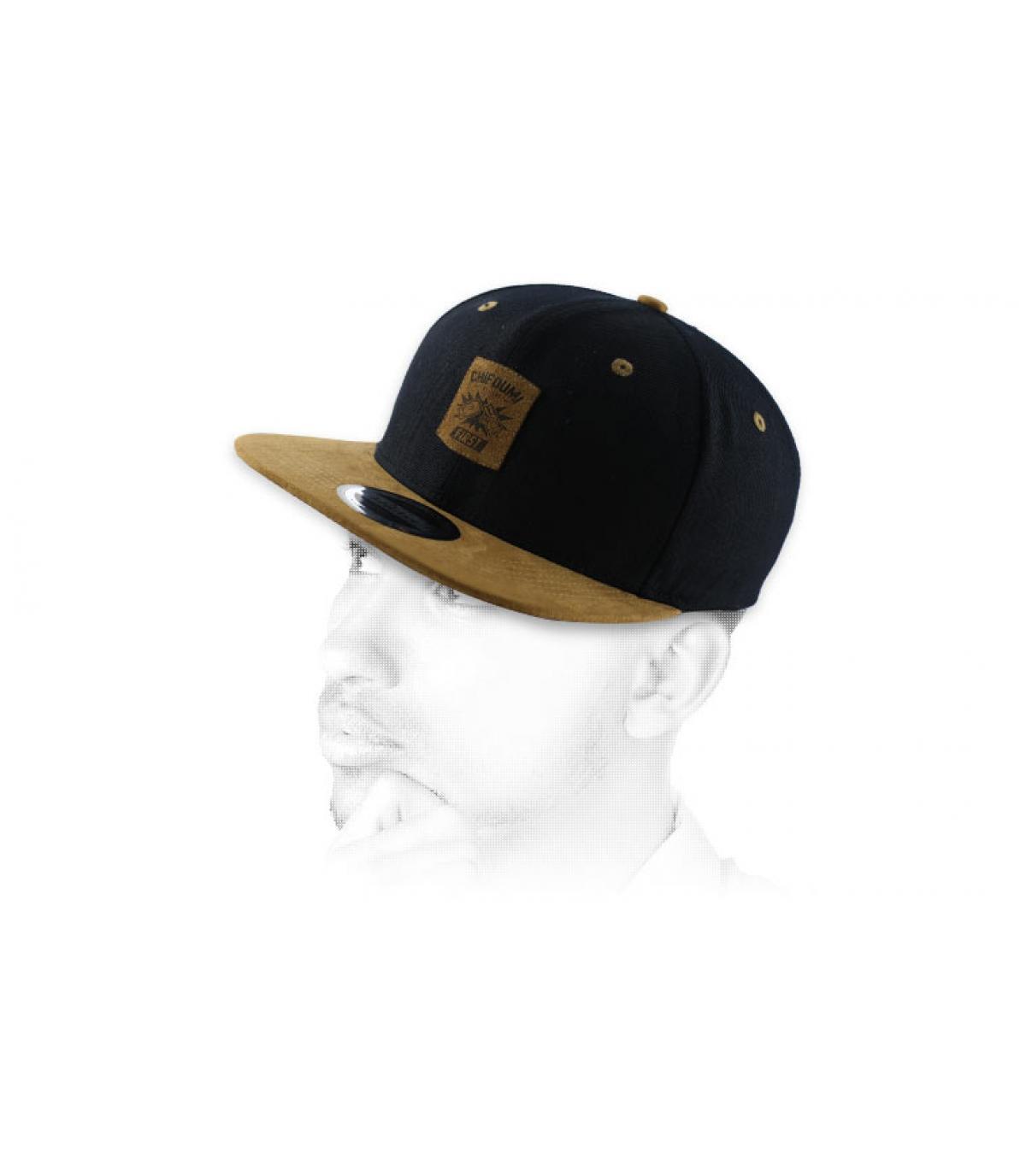 snapback Chifoumi noire marron