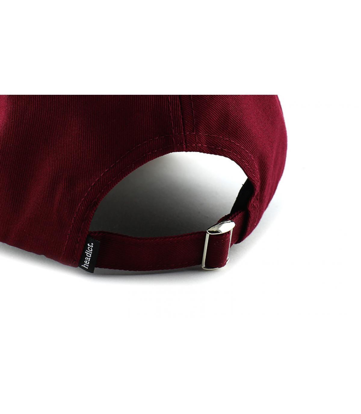 Détails Curve Pillow Line burgundy brown - image 5