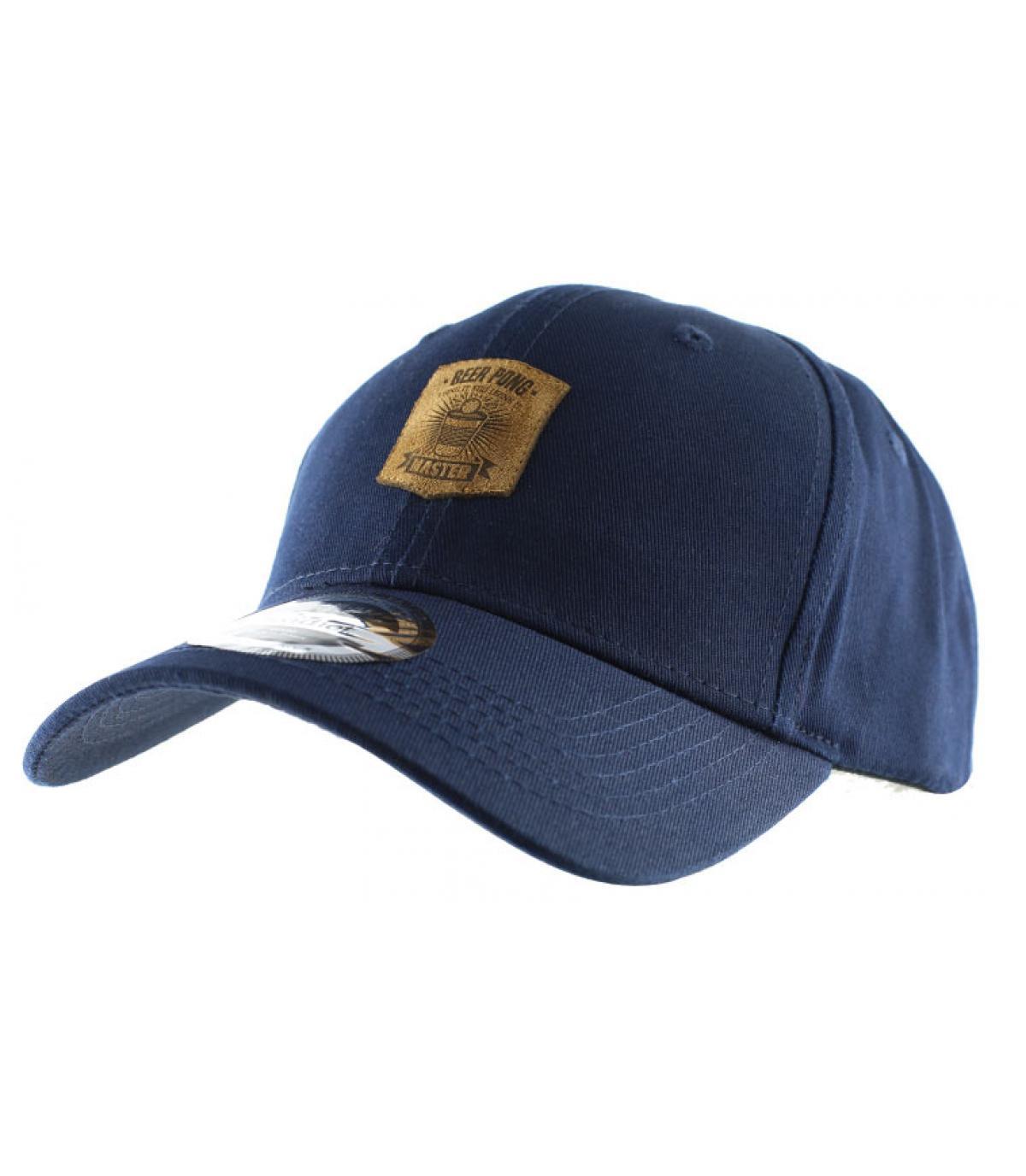 cap curve beer pong bleue