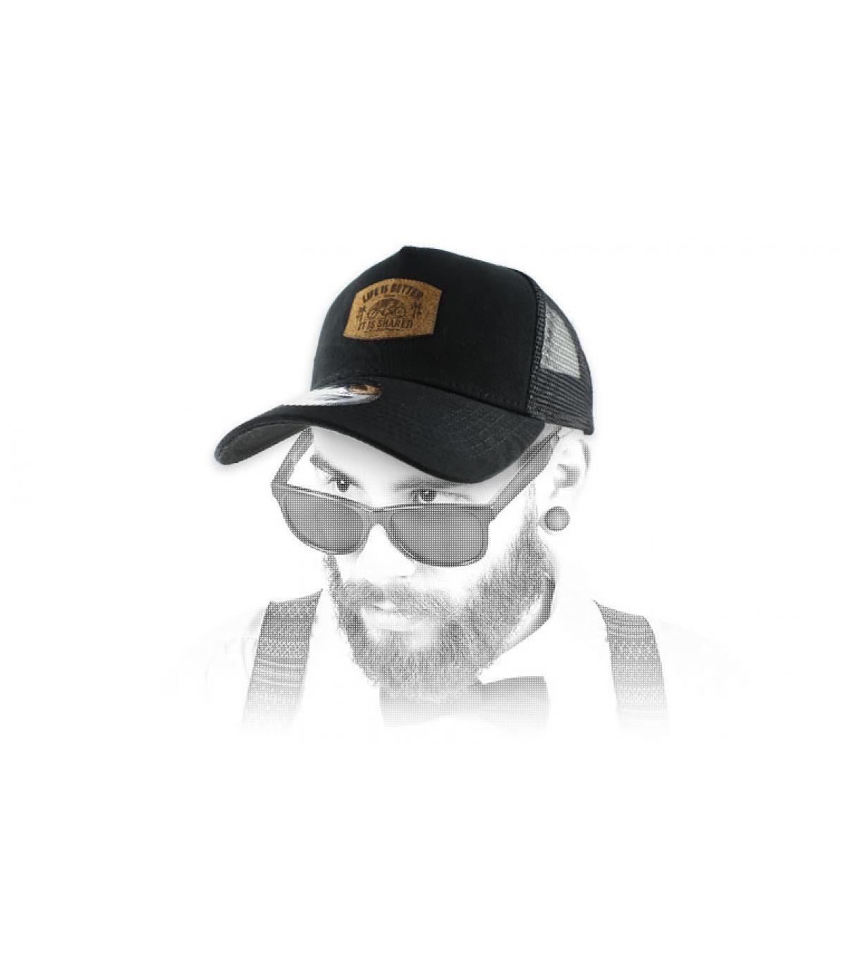 casquette tandem noire