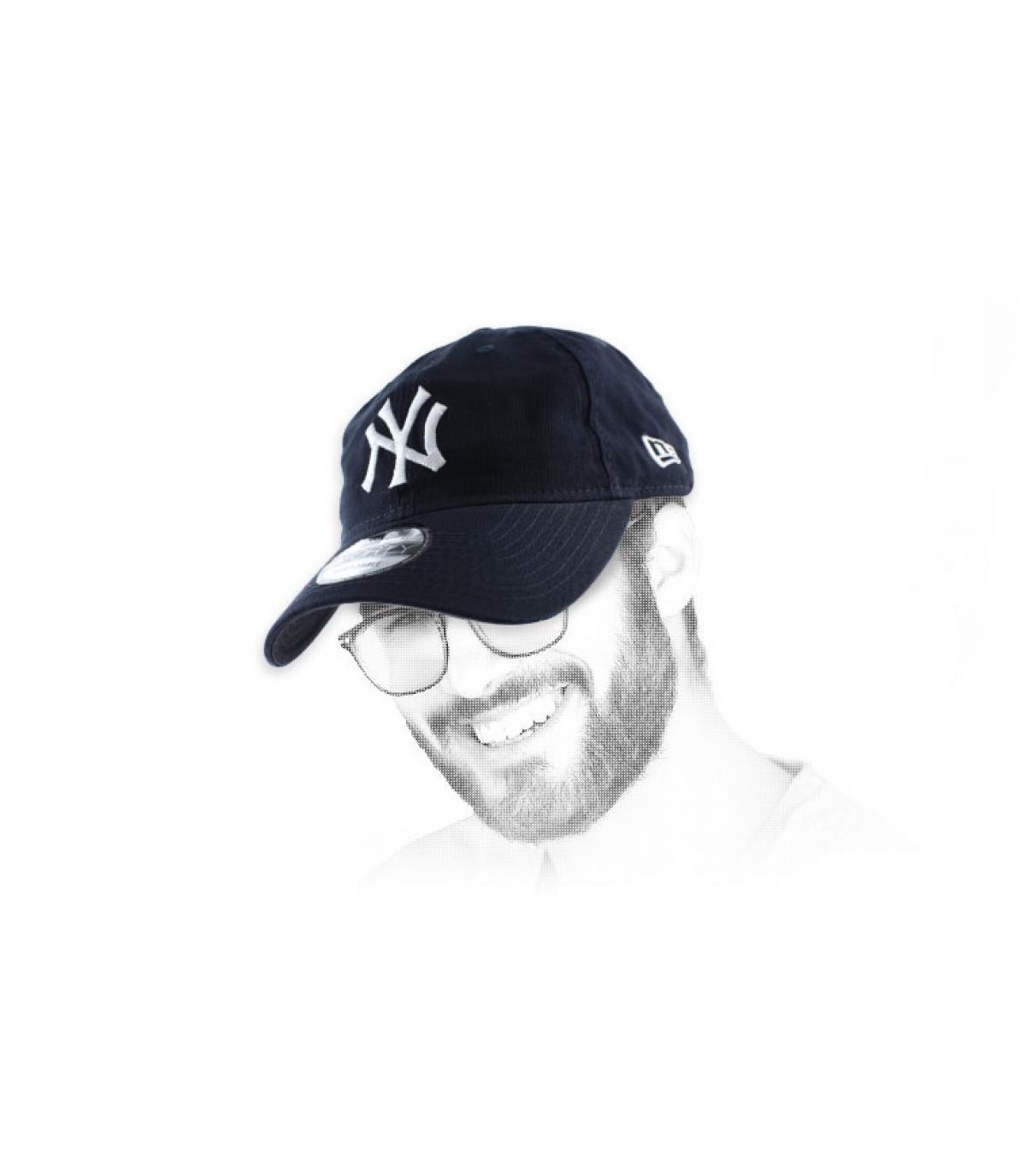 casquette déstructurée NY bleue