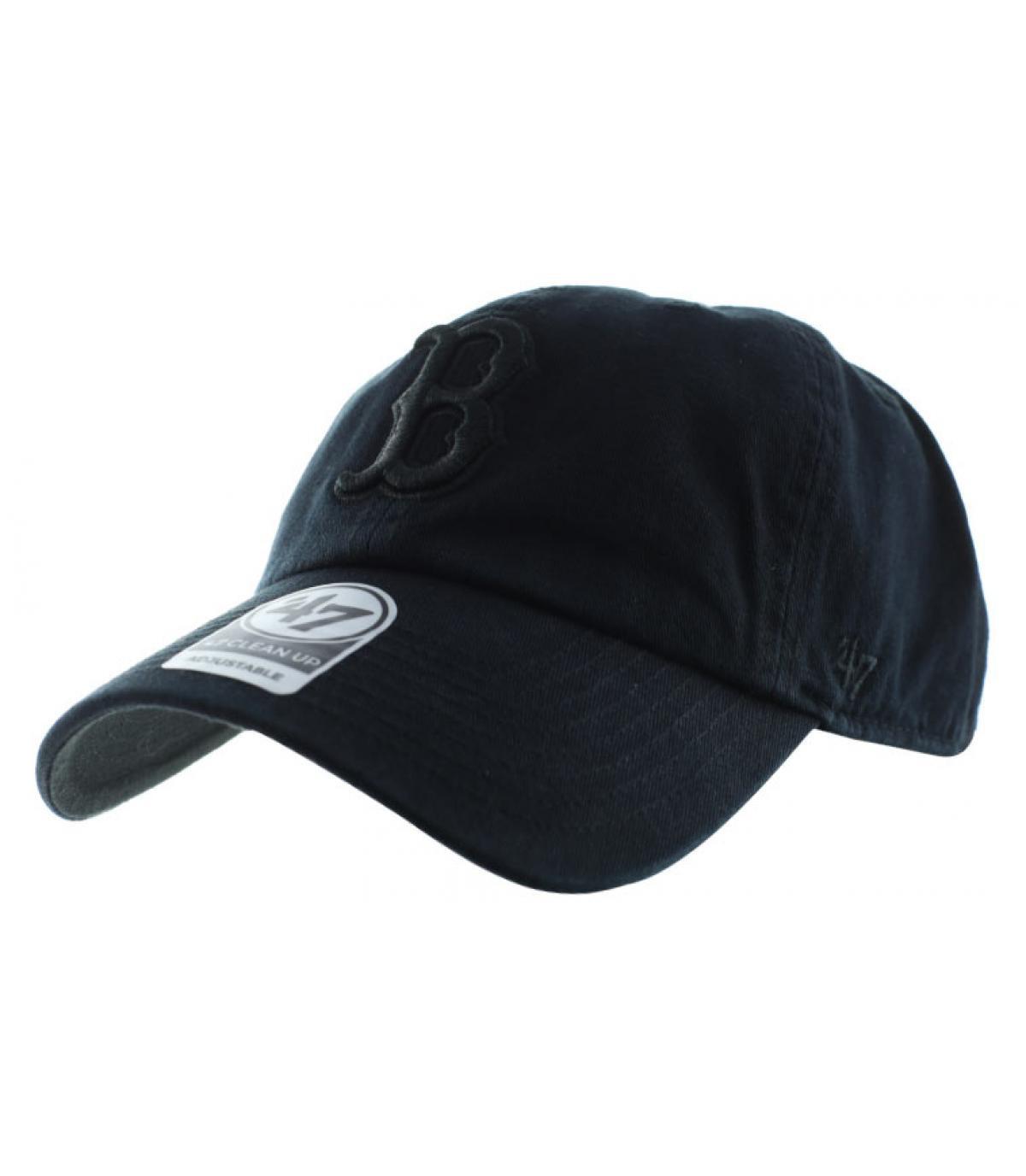 casquette curve Boston noire
