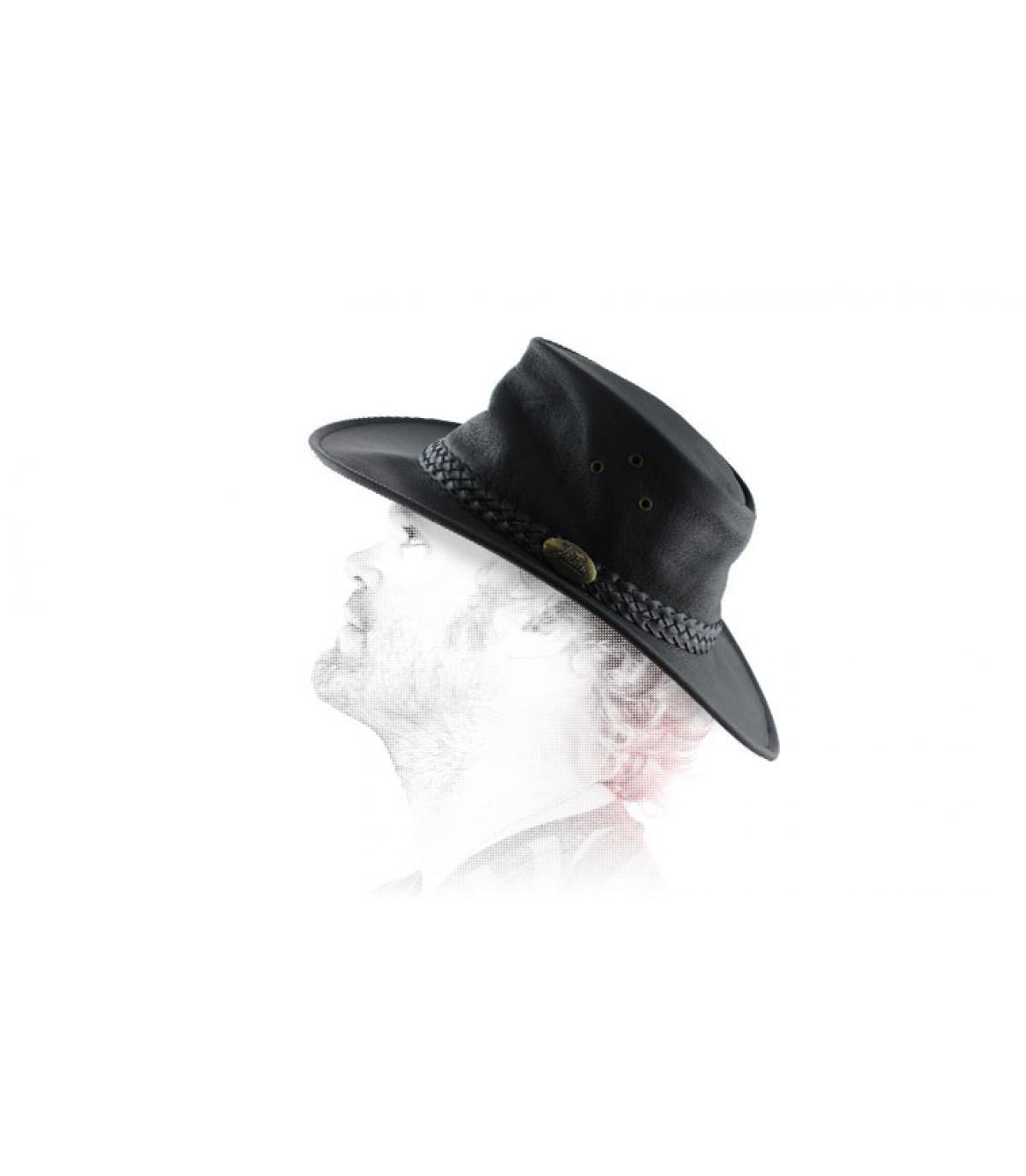 chapeau australien cuir huilé
