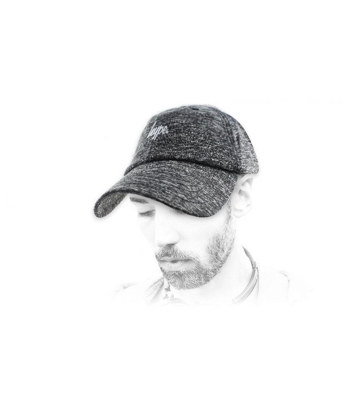 casquette Hype gris chiné