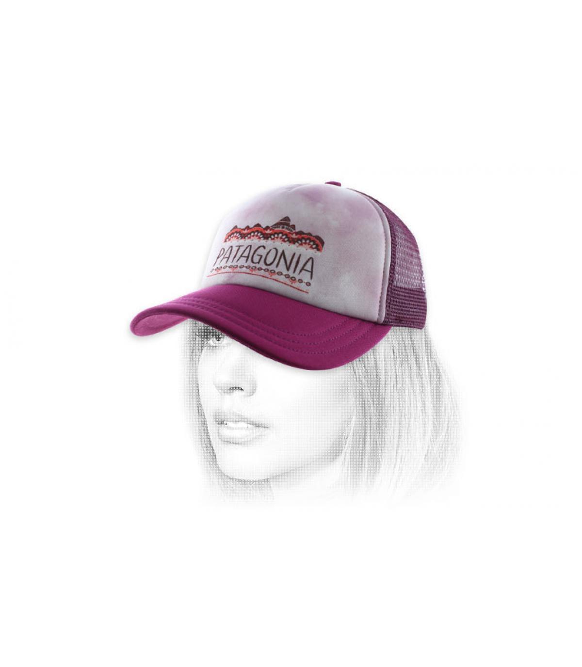 casquette femme violette Patagonia