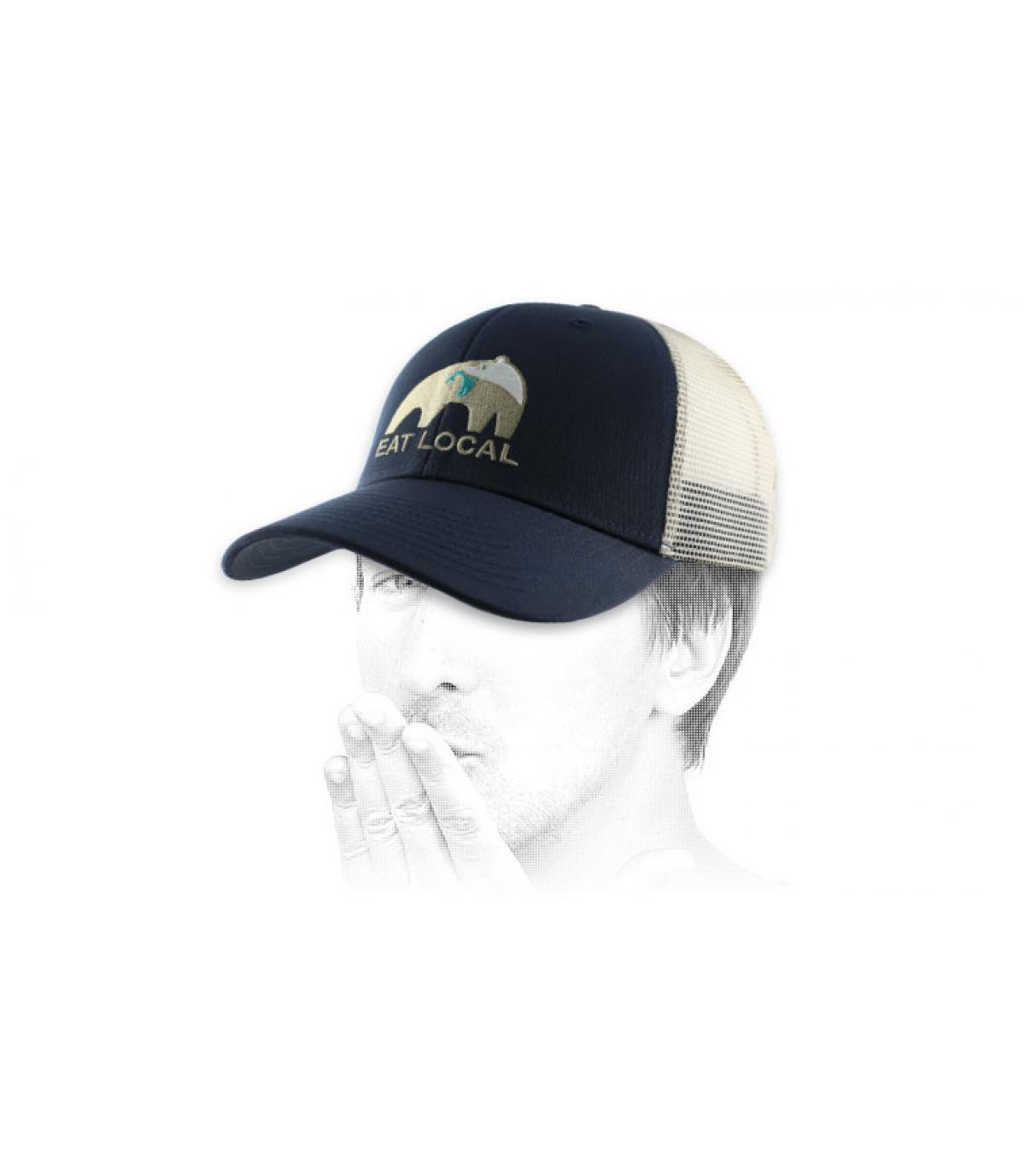 trucker ours bleue Patagonia