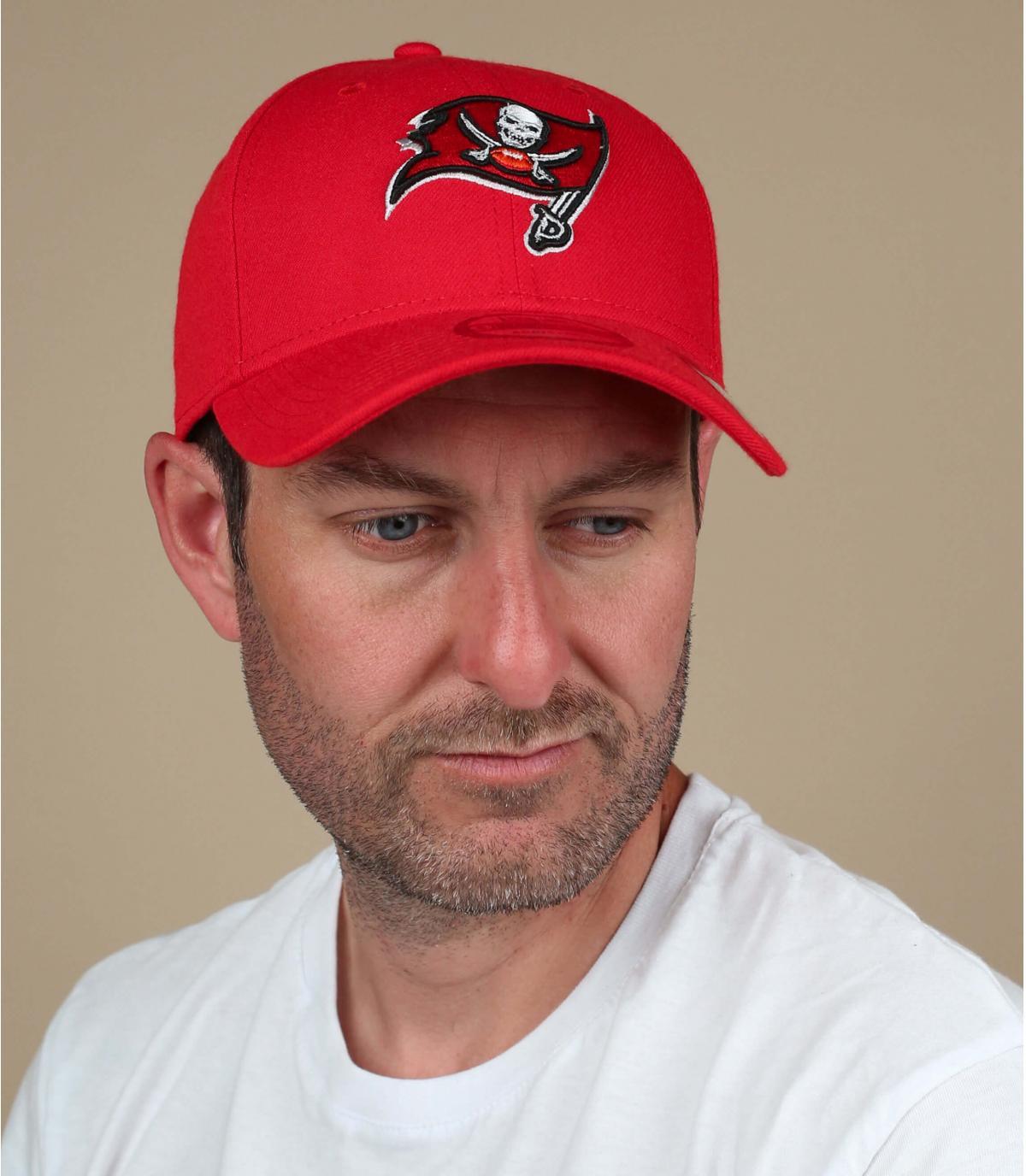 casquette Buccaneers rouge noir
