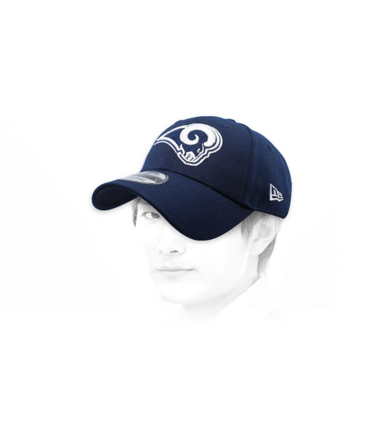 cap curve Rams bleue