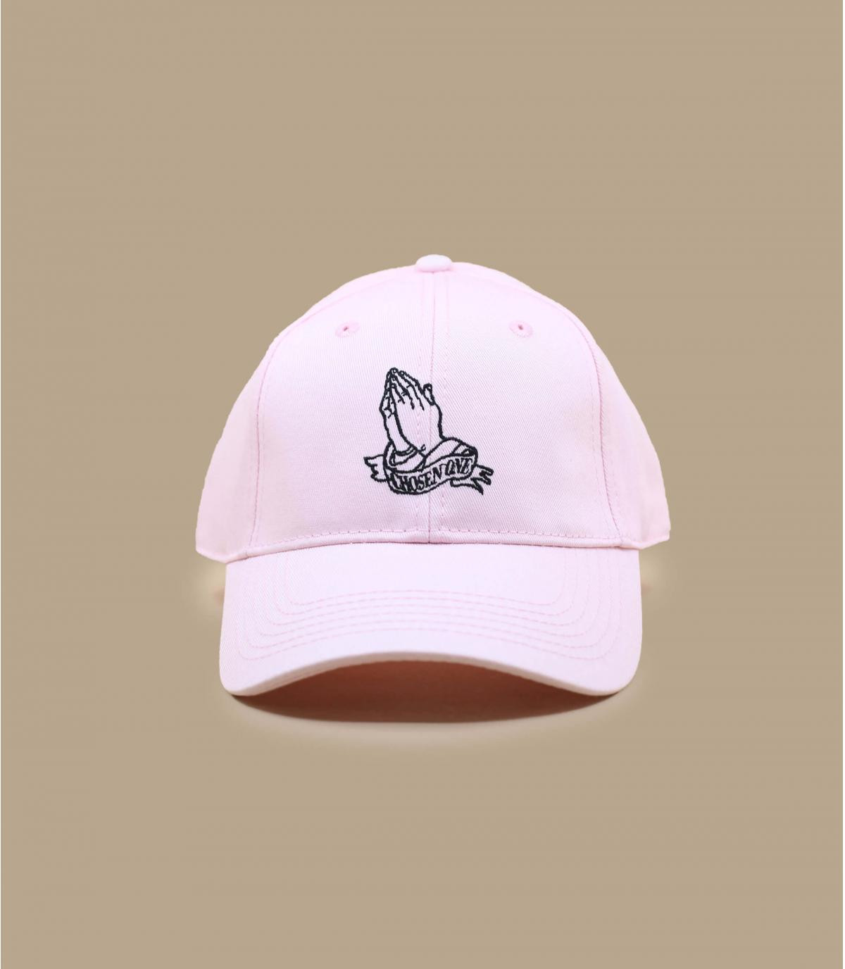 casquette curve prière rose
