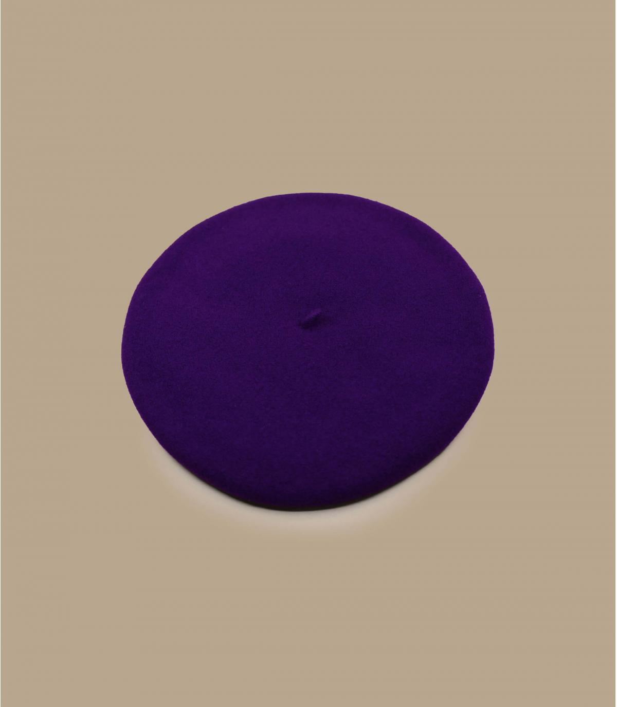 béret basque doublé violet