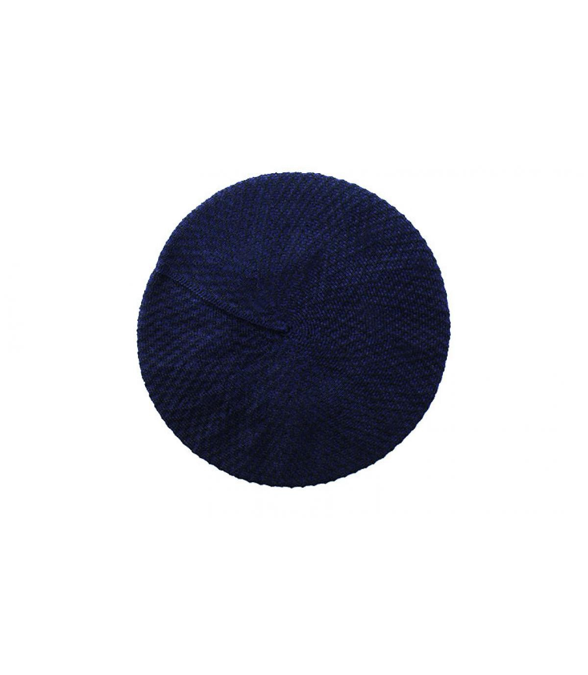 Détails Béret Coton noir bleu nuit - image 2