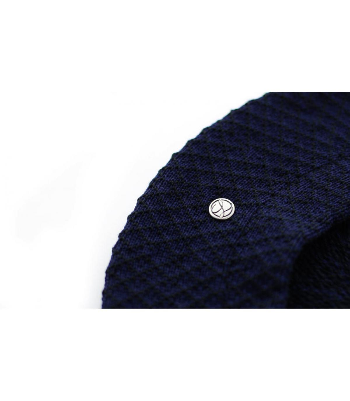 Détails Béret Coton noir bleu nuit - image 3