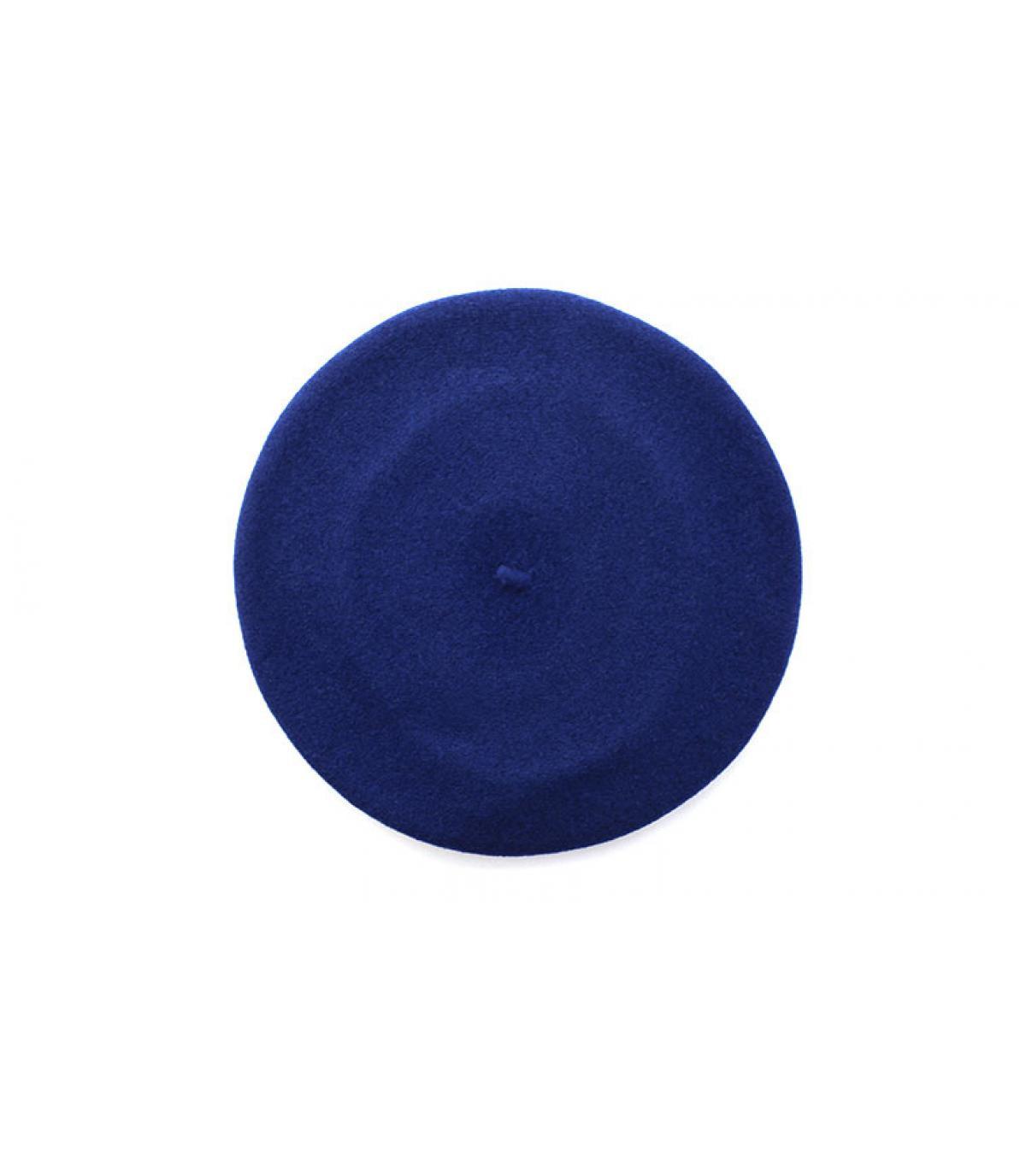 béret bord-côte bleu