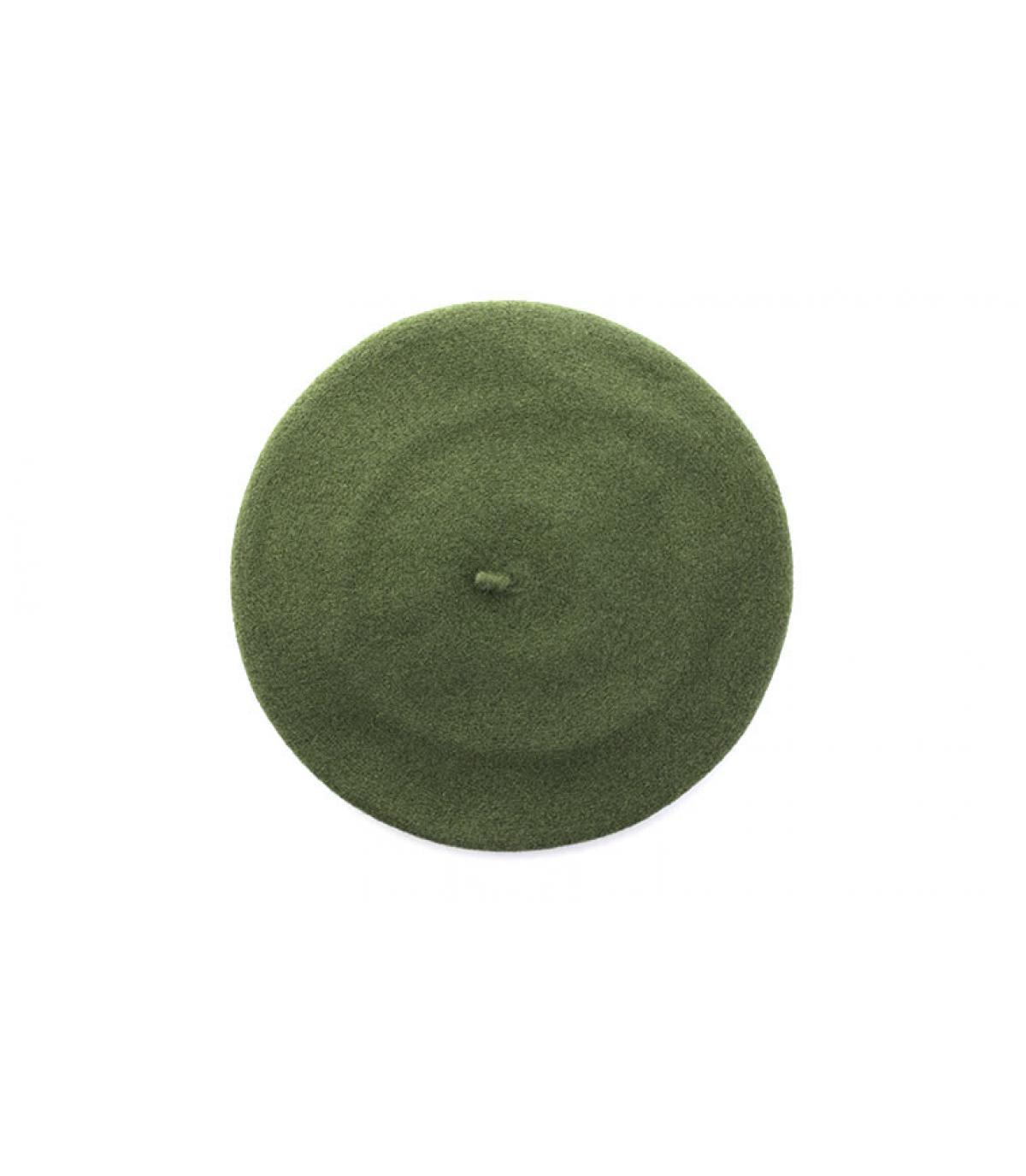 béret bord-côte vert