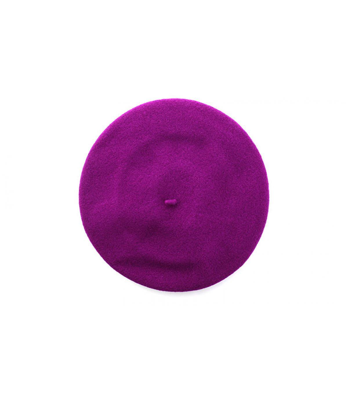 béret bord-côte violet