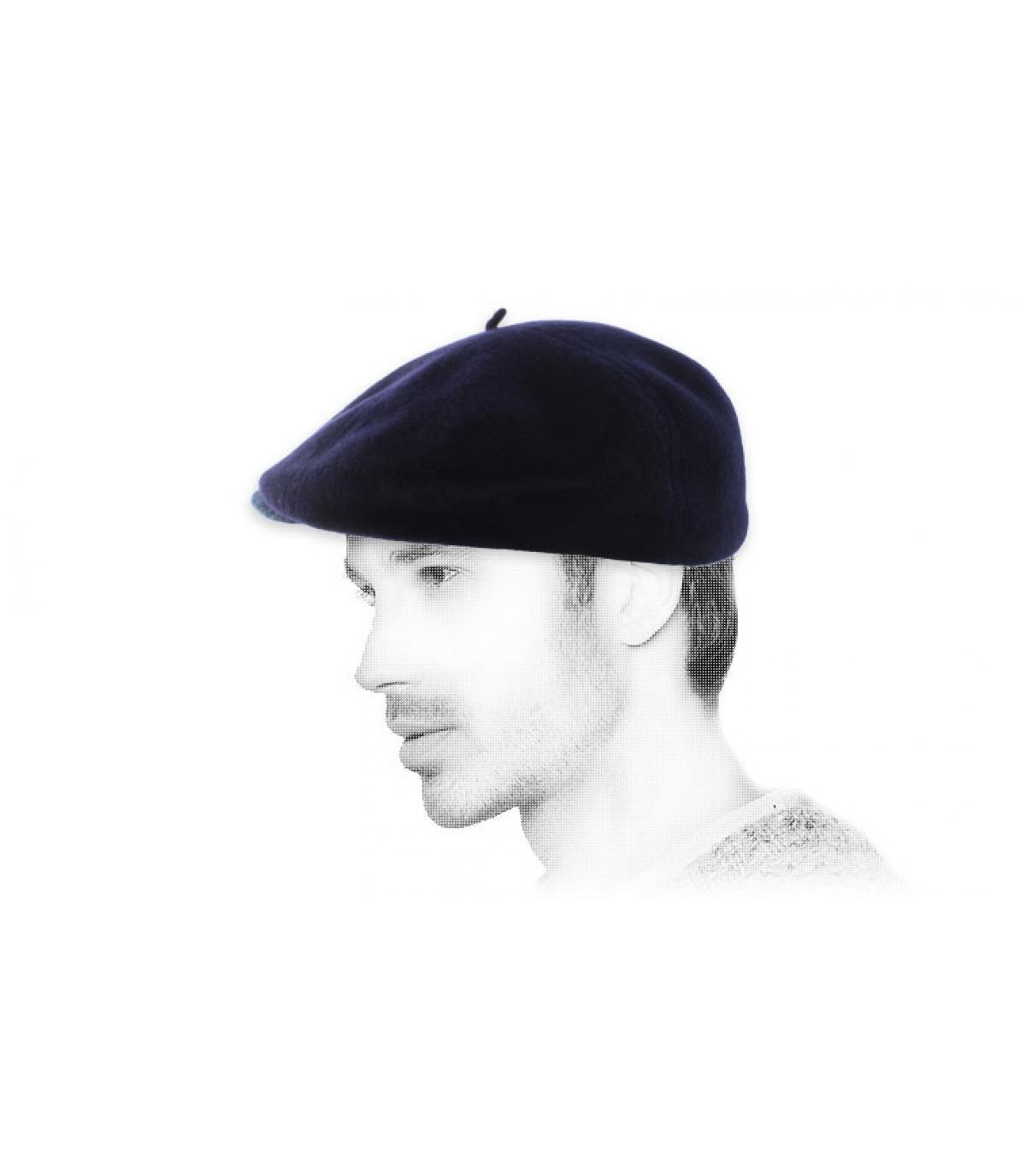 béret casquette marine laine