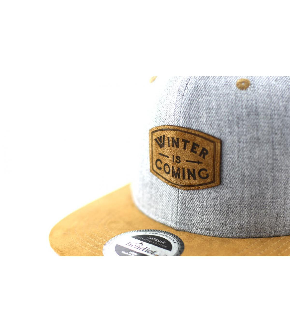 Détails Snapback Winter is Coming grey brown - image 3