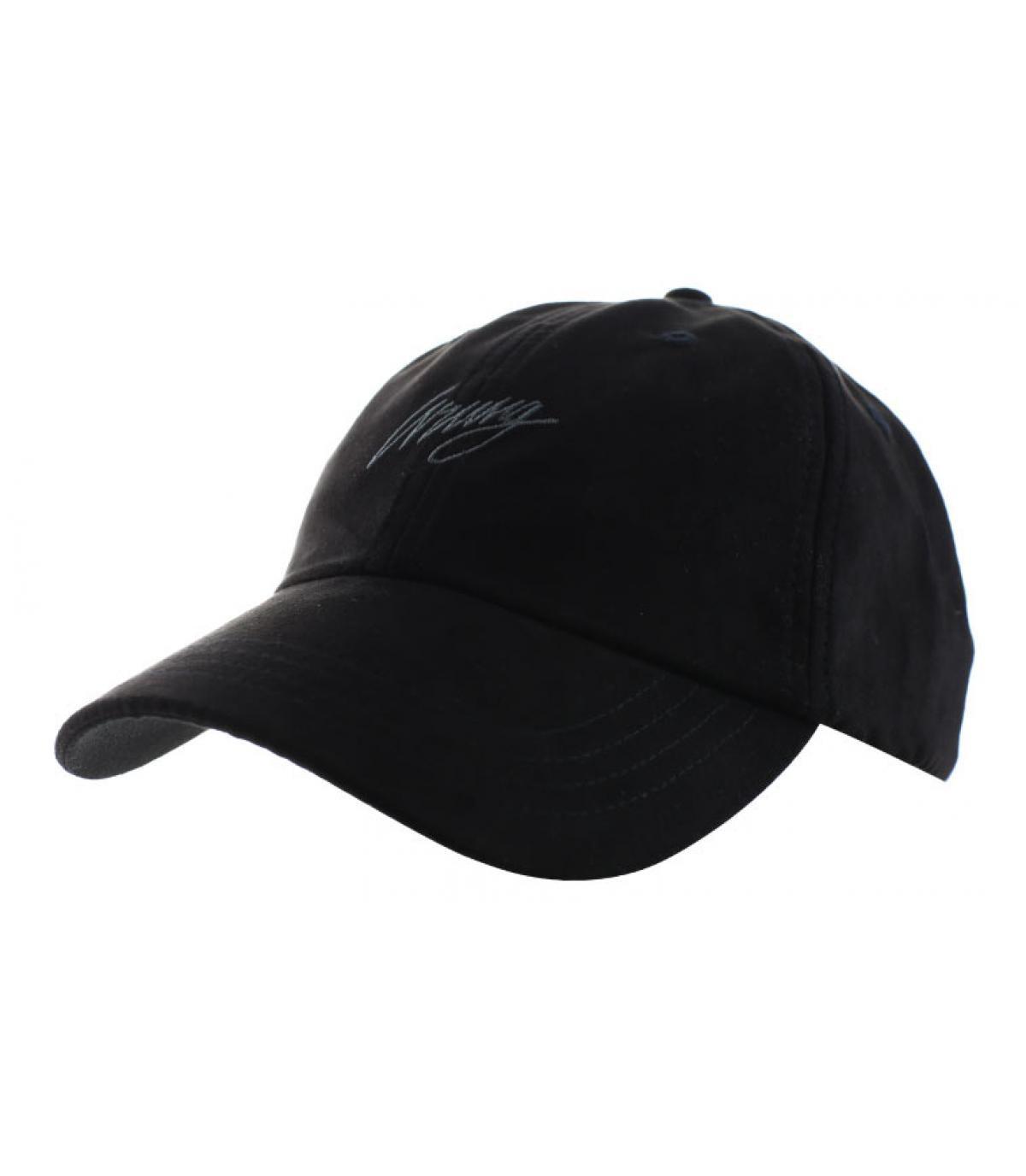 casquette curve daim noir