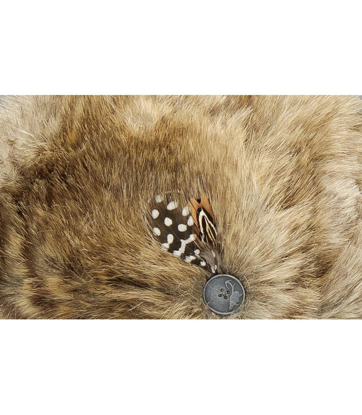 cb03de07446d0 Toque bonnet fourrure - Sue Sue natural Nobis - image 1 ...