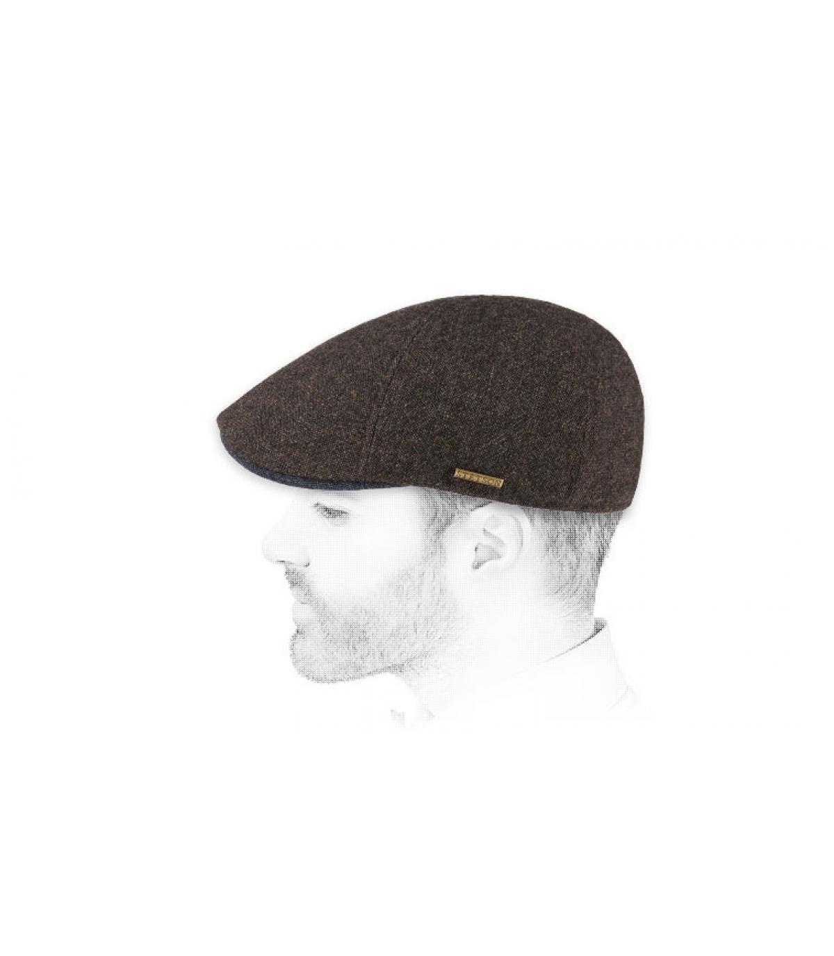 casquette duckbill marron laine