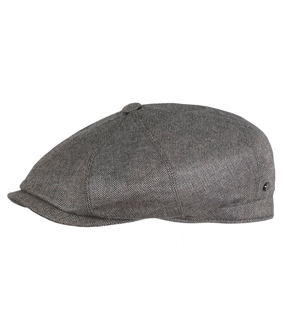 béret gris laine soie