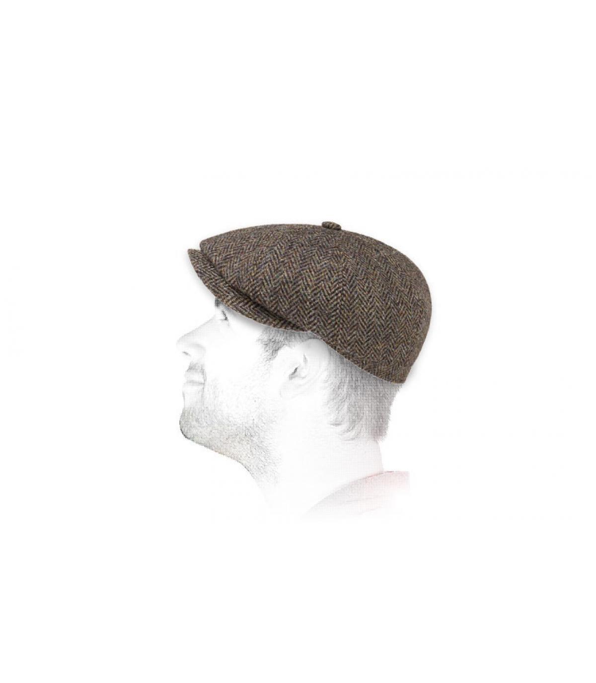 casquette gavroche tweed Stetson