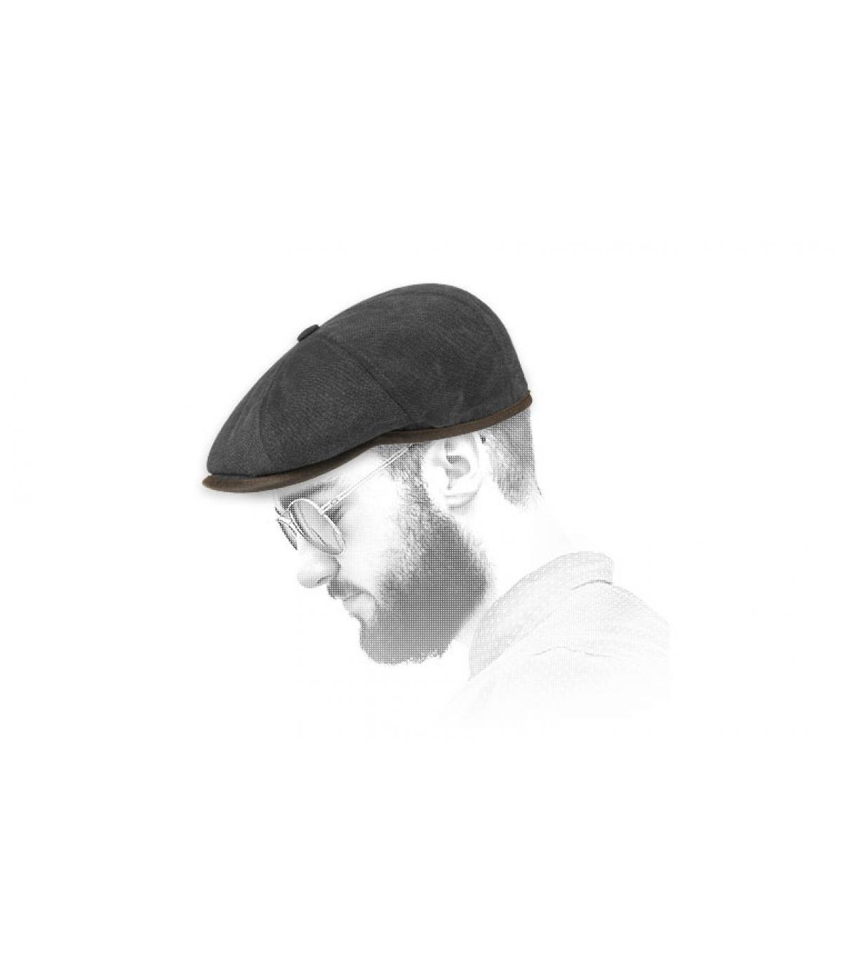 casquette gavroche noir coton