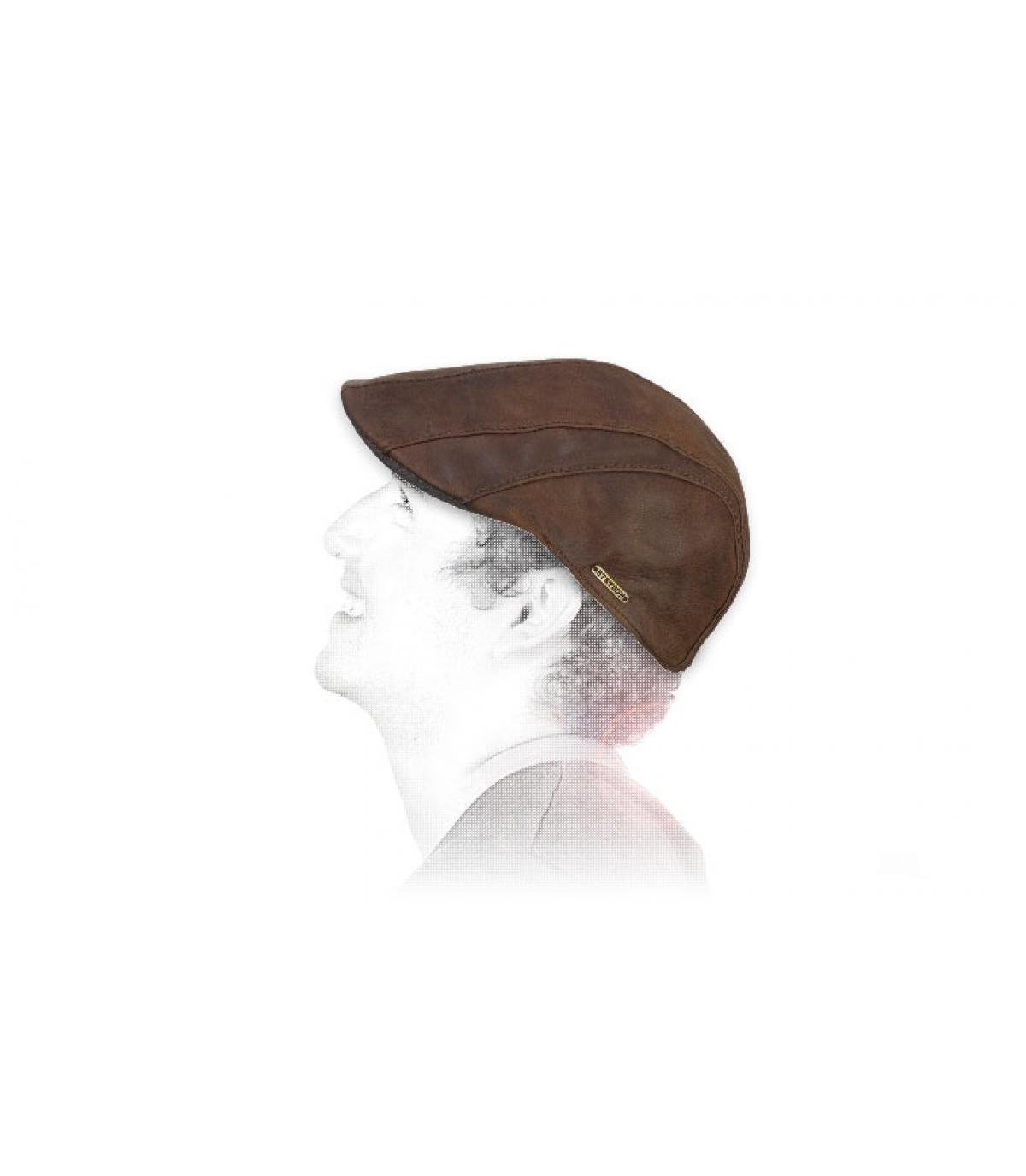 béret cuir chèvre Stetson