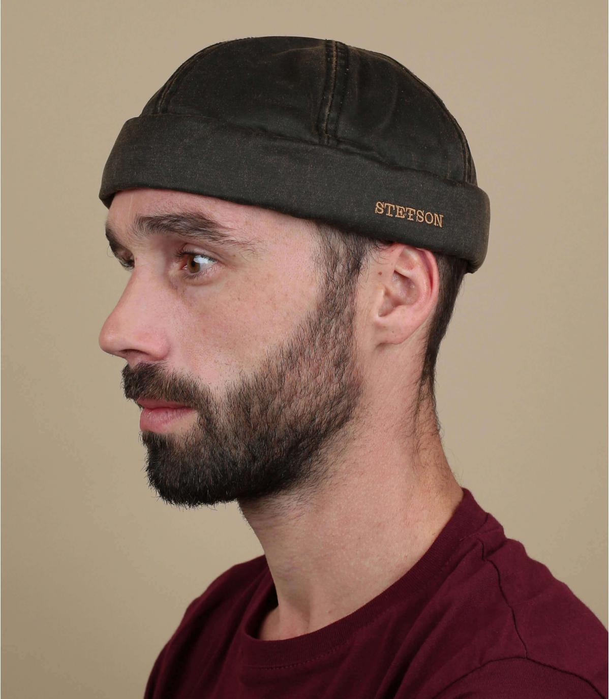 bonnet docker marron coton