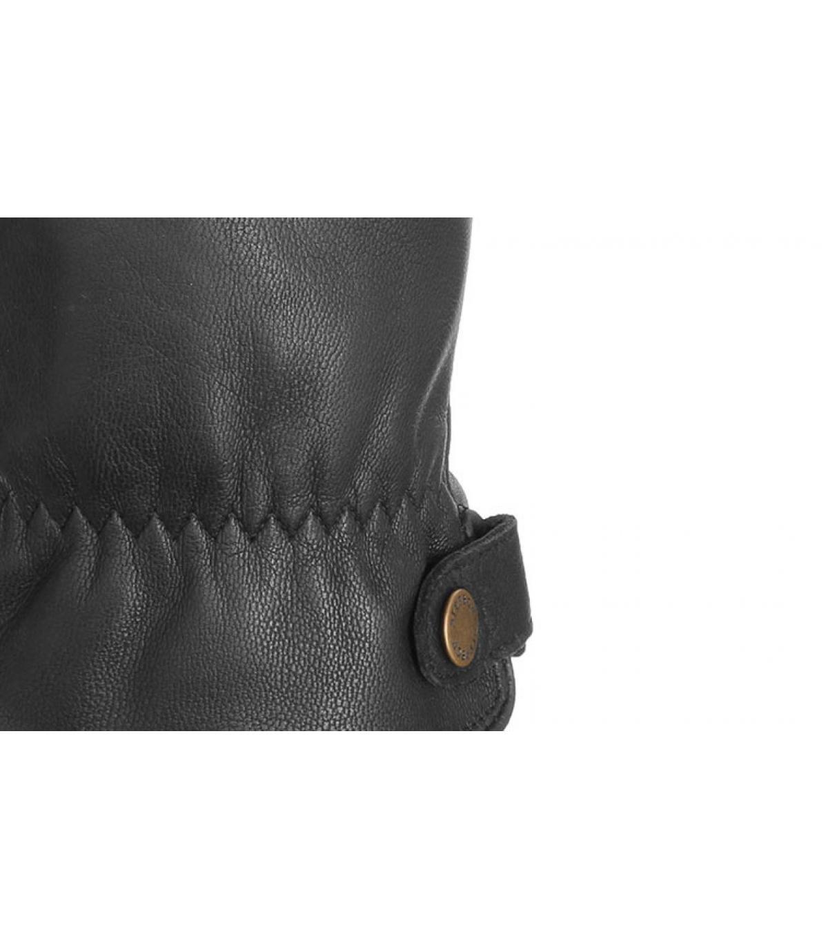 gants cuir tactile noir Stetson