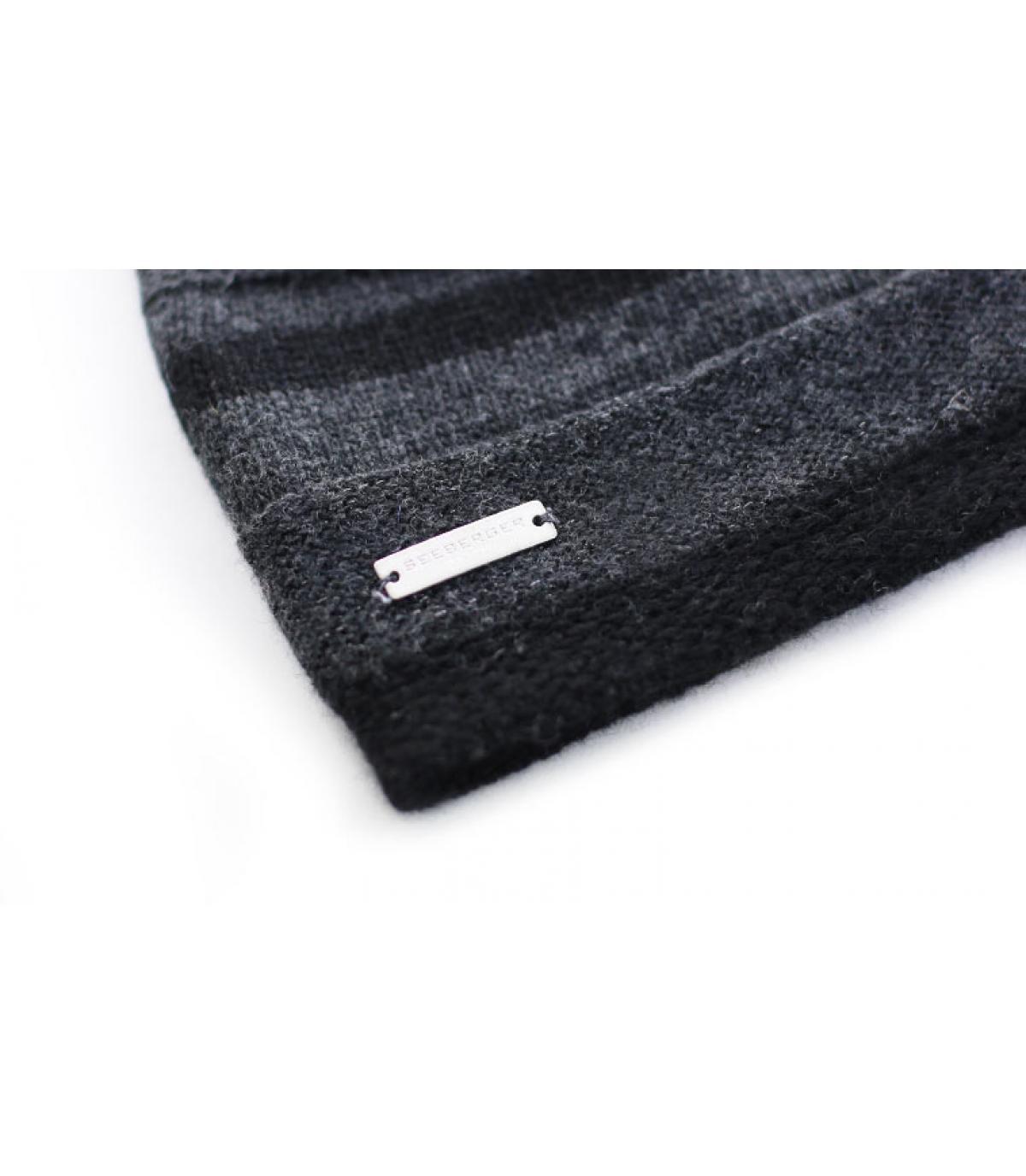 Détails Bonnet Lurex Stripes noir - image 3