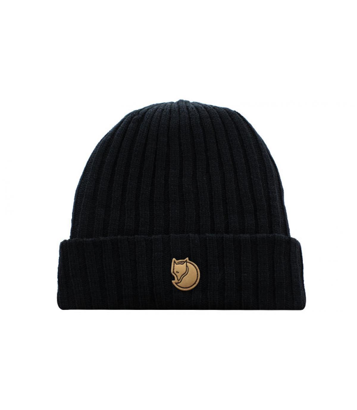 bonnet noir revers Fjällräven