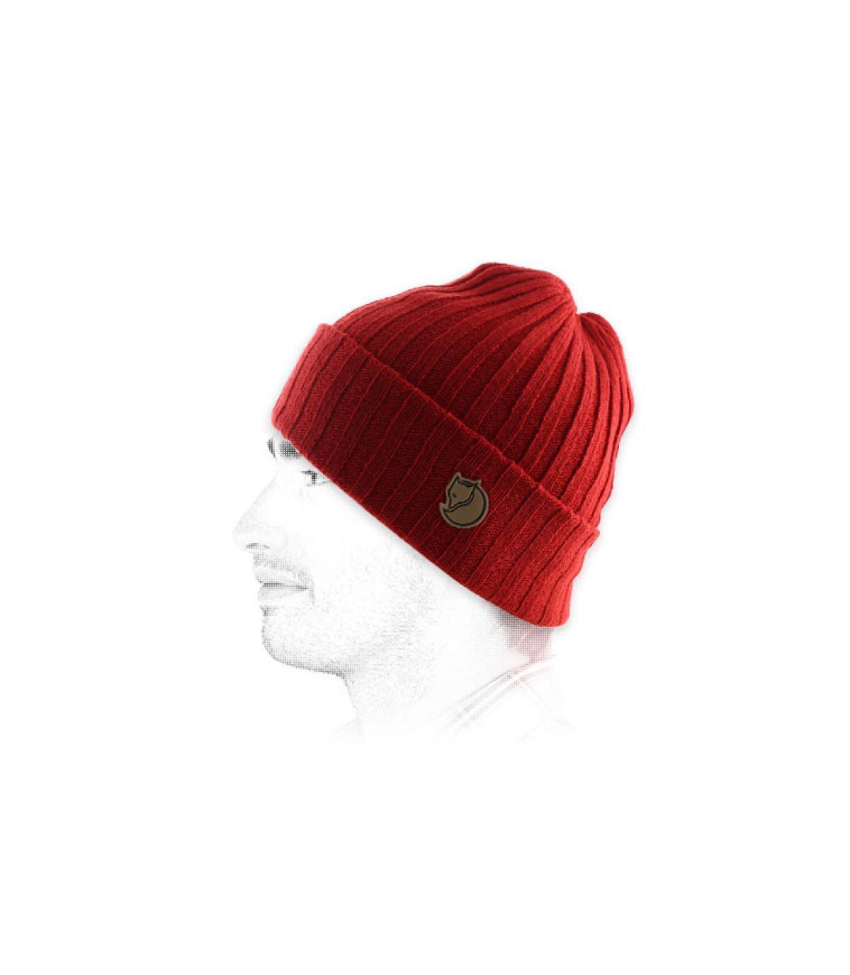 bonnet rouge revers Fjällräven