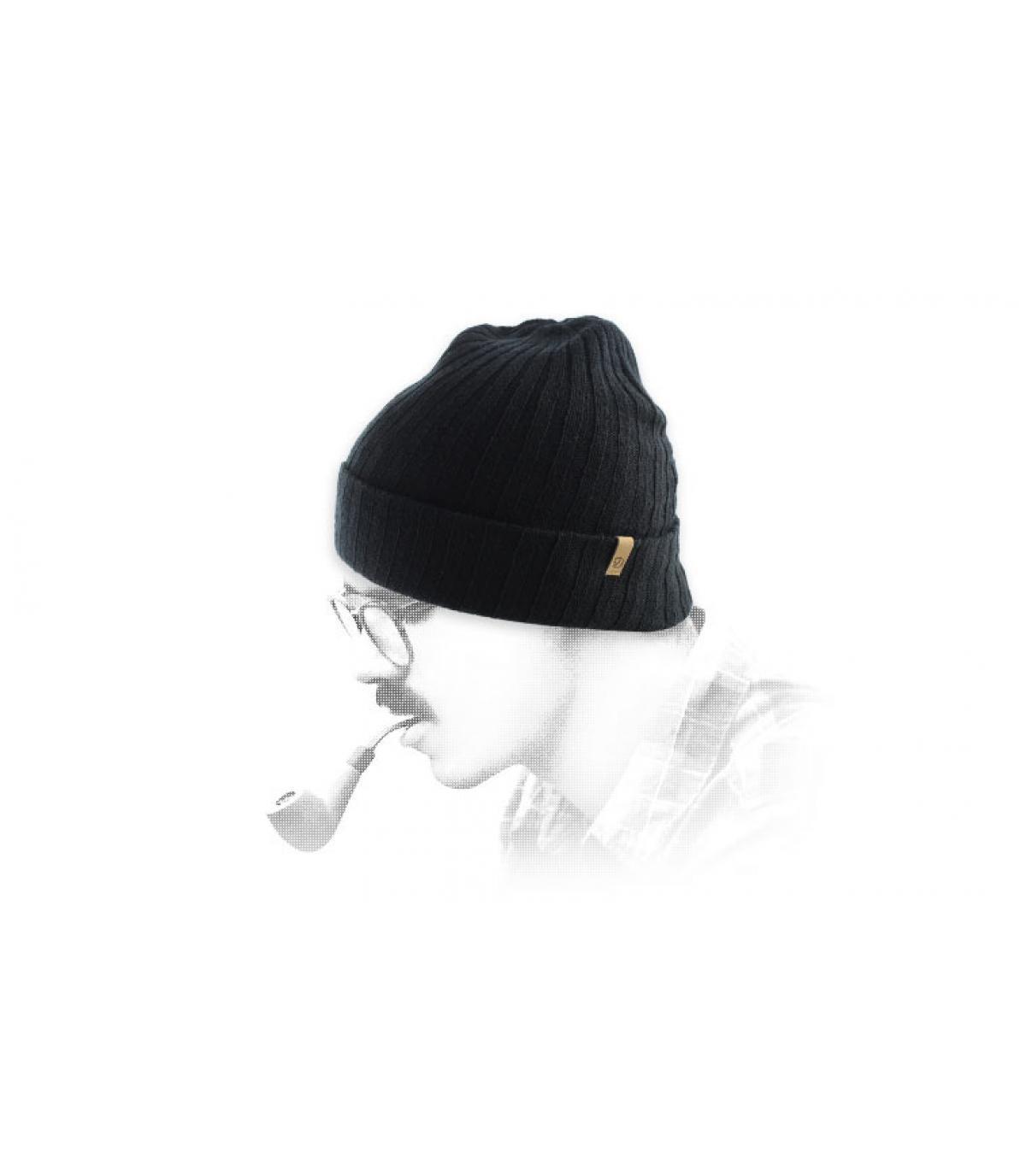 bonnet revers noir Fjällräven